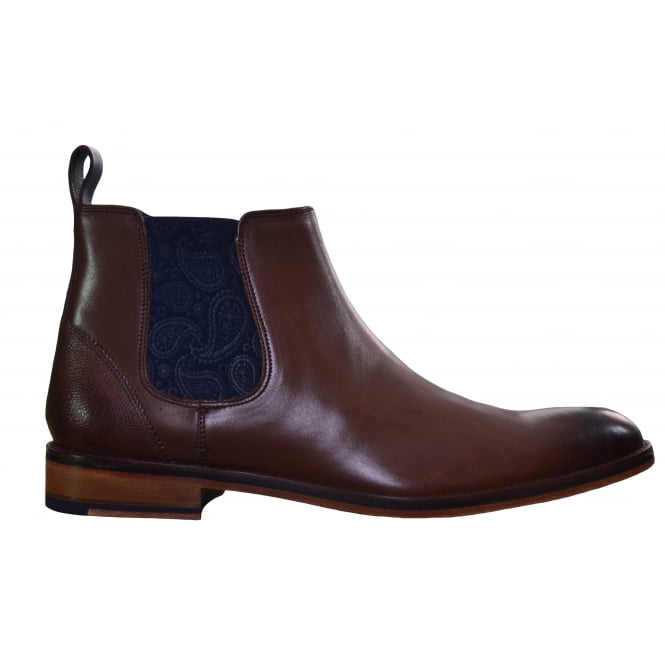 Ted Baker Mens Brown Camroon Leather Chelsea Boot
