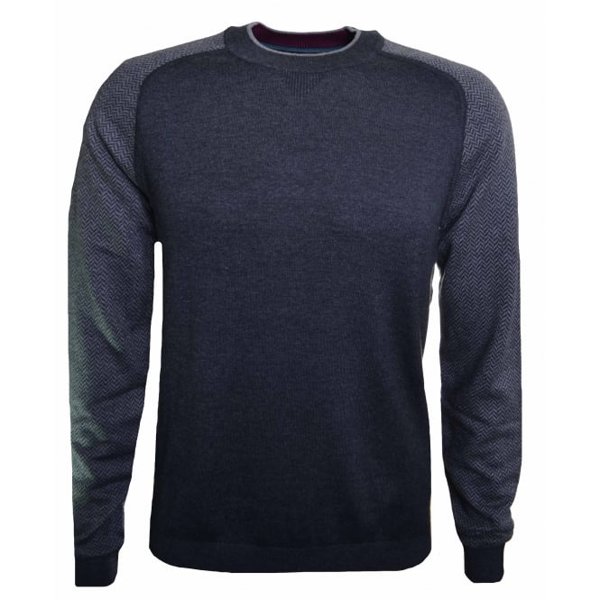 Ted Baker Men's Charcoal Pepmint Jumper