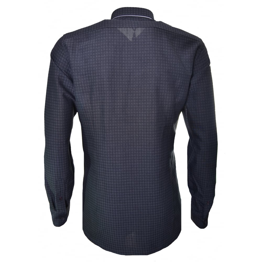 ae0ffcf3bf6 Ted Baker Men  039 s Charcoal Rugbee Check Long Sleeve Shirt
