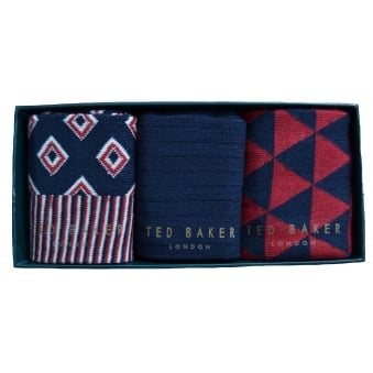 Ted Baker Men's Cupid Pack Of Three Socks