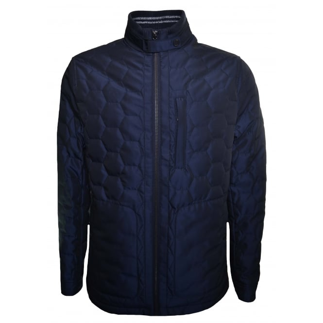 Ted Baker Men's Dalway Navy Blue Quilted Jacket