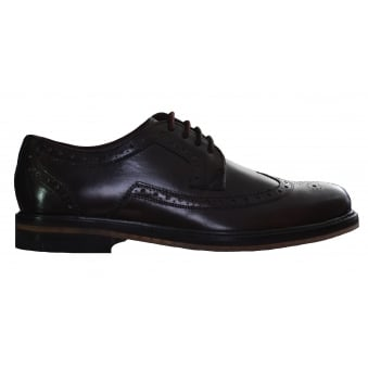 Ted Baker Men's Dark Brown Ttanum3 Brogue Shoes