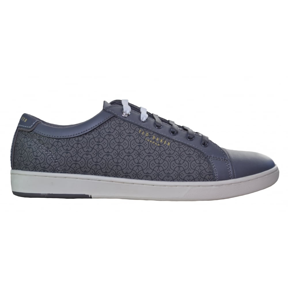 Ted Baker Mens Dark Grey Lewka Text Am Trainer