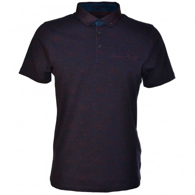 Ted Baker Mens Dark Red Canpic Polo Shirt