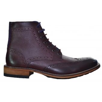 Ted Baker Men's Dark Red Sealls 2 Brogue Ankle Boots