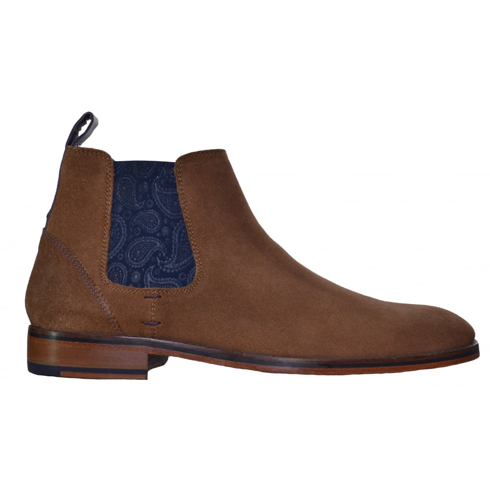 Ted Baker Men S Camroon4 Suede Dark Tan Chelsea Boot