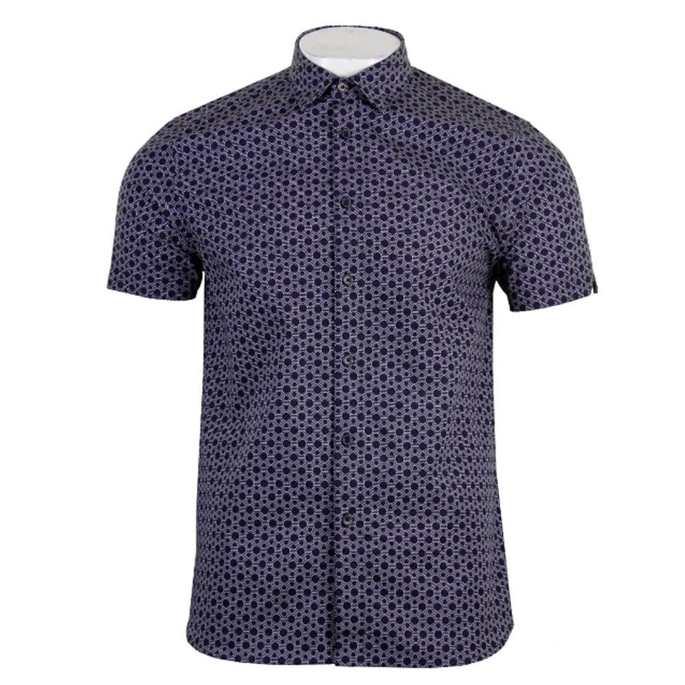 da1ac09dd4cc ted baker mens enyone navy hexline shirt