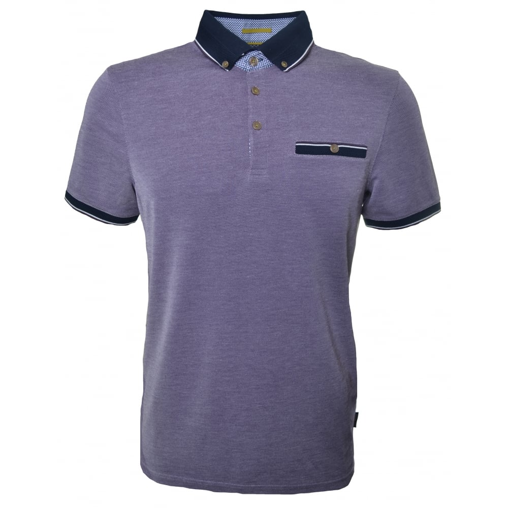 142404470a70ba ted baker men s fabalas deep purple polo shirt