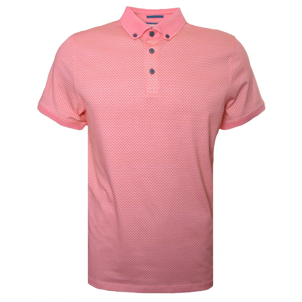 4110260b1 Ted Baker Men  039 s Fliyte Coral Short Sleeved Polo Shirt
