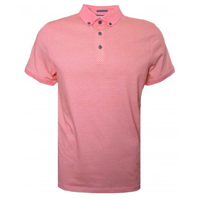 Ted Baker Men's Fliyte Coral Short Sleeved Polo Shirt