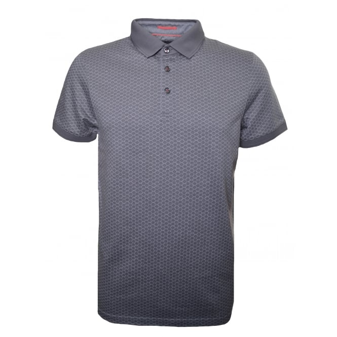 Ted Baker Men's Grey Marl Talford Short Sleeved Polo Shirt