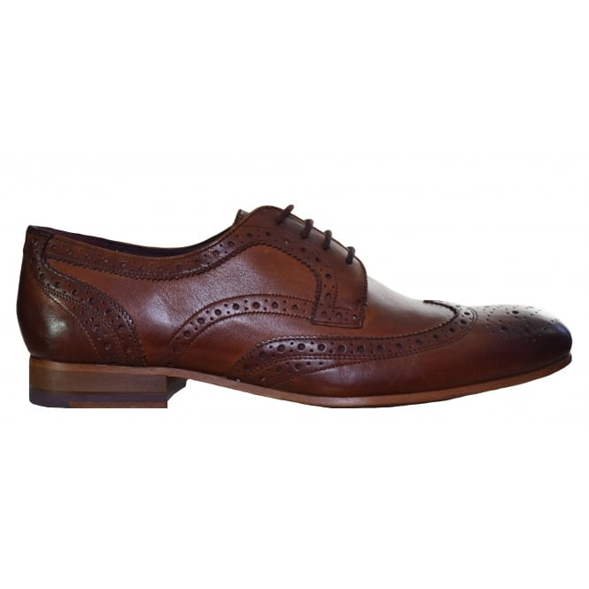 Ted Baker Men's Gryene Leather Tan Brogue Shoes