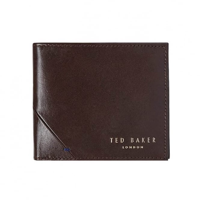 Ted Baker Mens Hofset Chocolate Leather Wallet Gift Set