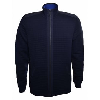 Ted Baker Men's Ken Navy Blue Quilted Bomber Jacket