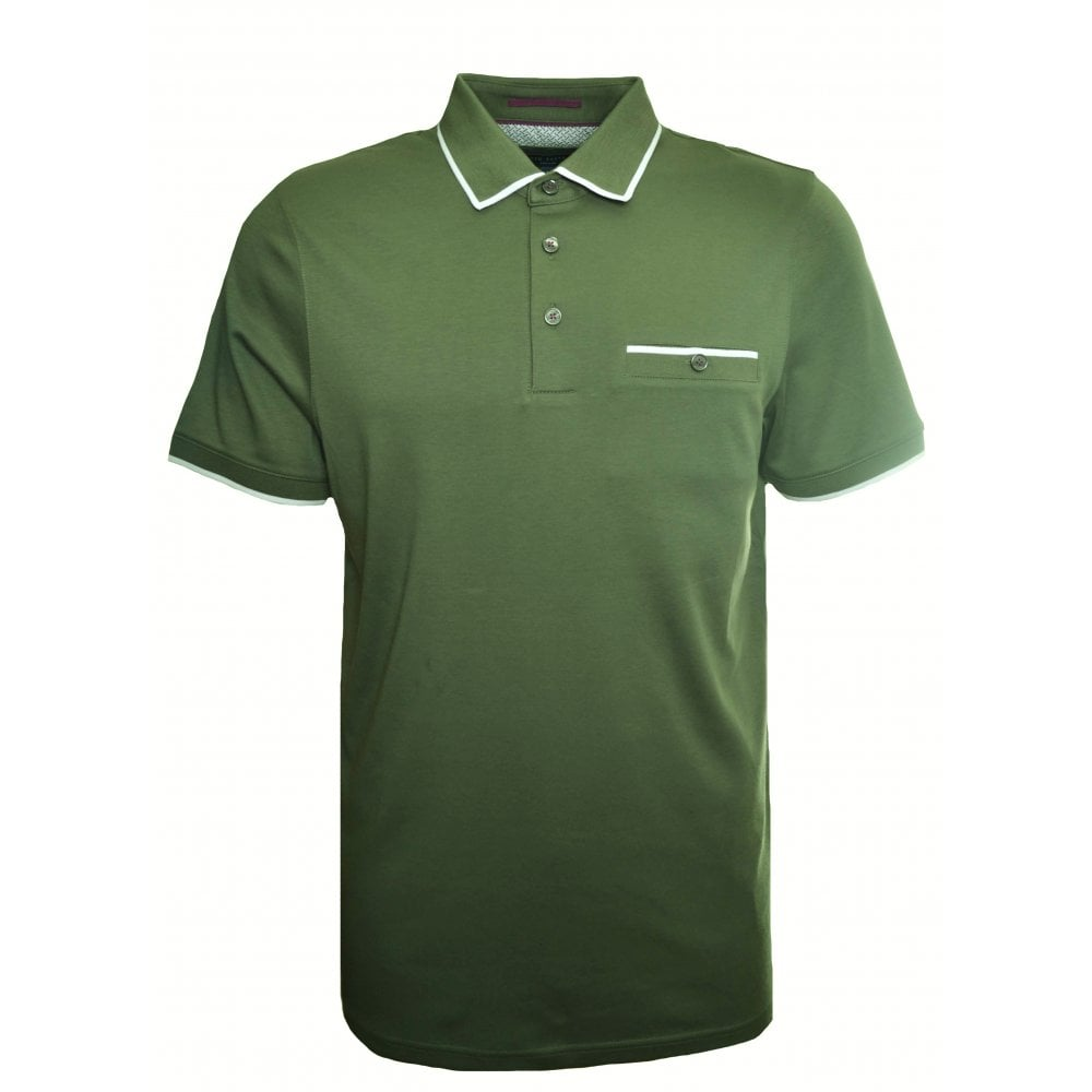 b8cb4e388 Ted Baker Men  039 s Khaki Green Jelly Polo Shirt