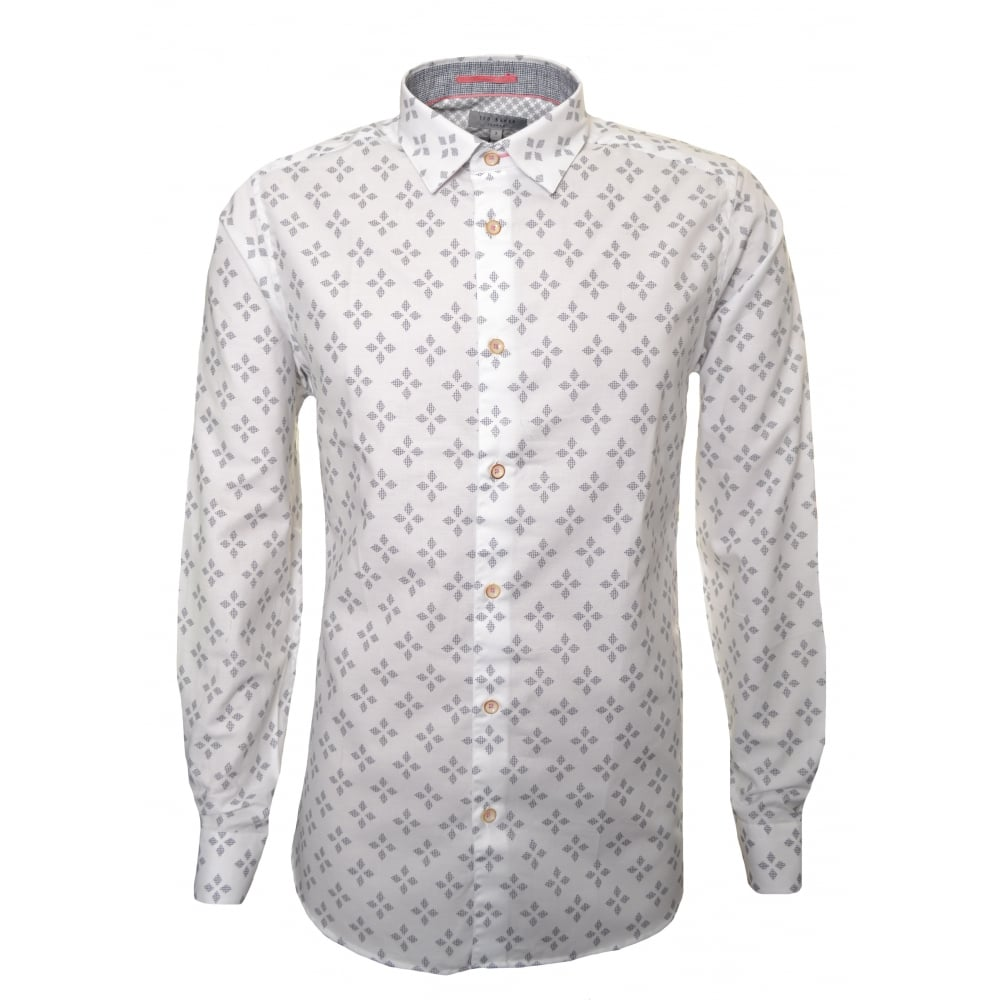 444036c17 Ted Baker Men s Laaze White Long Sleeved Shirt