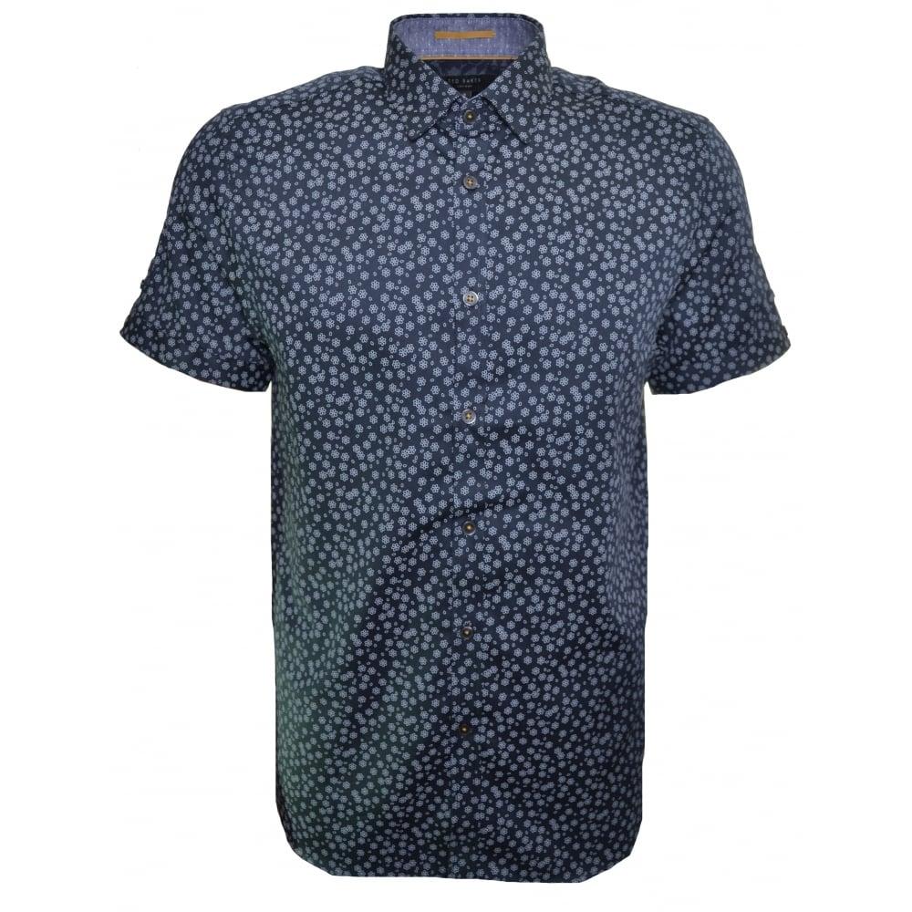 ted baker men 39 s manoman navy blue short sleeve shirt