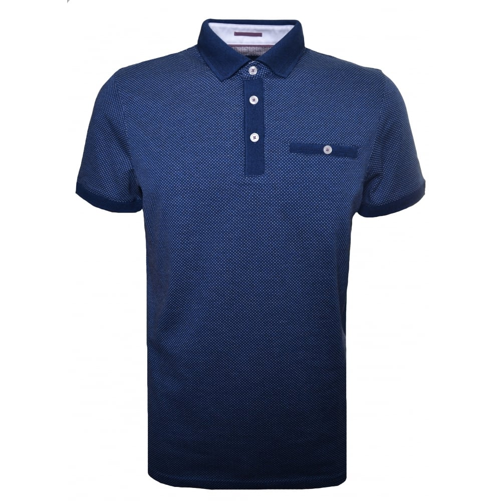 e2d6df1f23445 Ted Baker Men  039 s Mid Blue Otto Polo Shirt