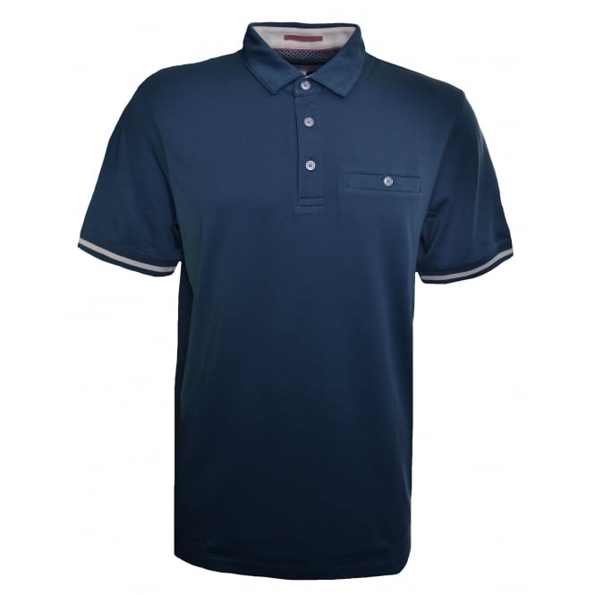 Ted Baker Men's Mid Blue Puggle Polo Shirt