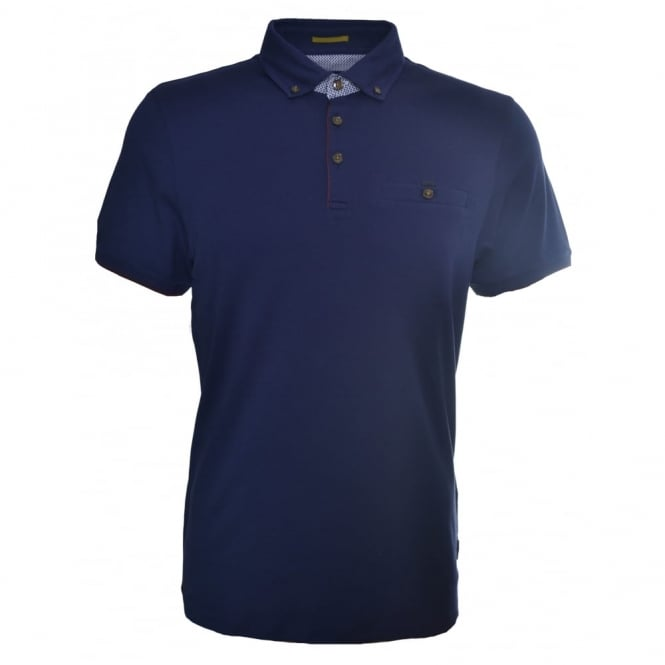 Ted Baker Men's Navy Blue Bustan Polo Shirt