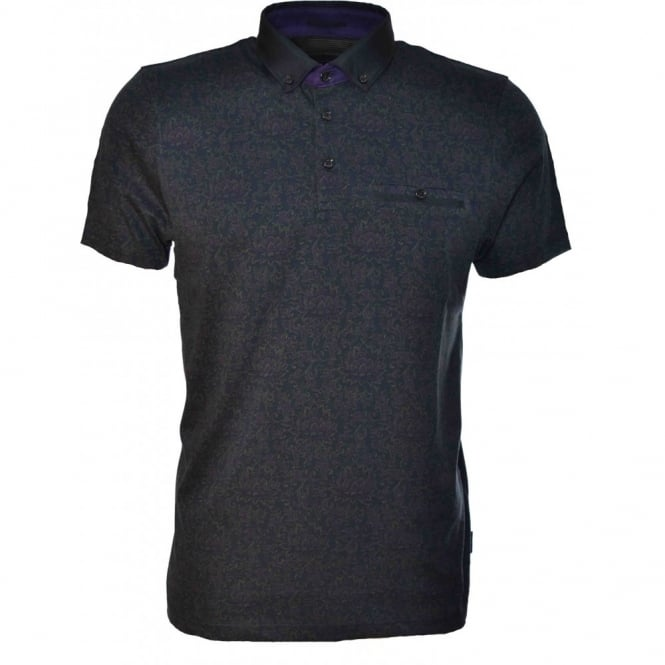 Ted Baker Mens Navy Blue Canpic Polo Shirt