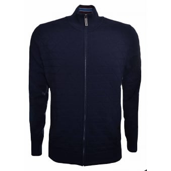 Ted Baker Men's Navy Blue Delgado Cardigan