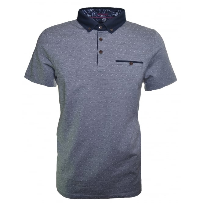 Ted Baker Men's Navy Blue Eletrik Polo Shirt