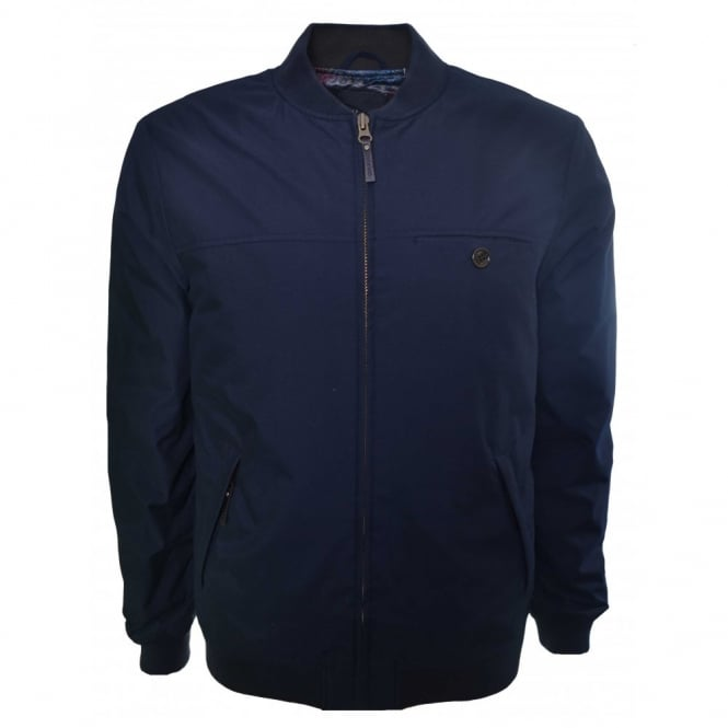 c02175ae Ted Baker Ted Baker Men's Navy Blue Fernley Wadded Bomber Jacket