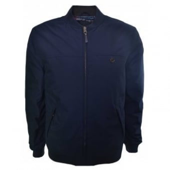 Ted Baker Men's Navy Blue Fernley Wadded Bomber Jacket