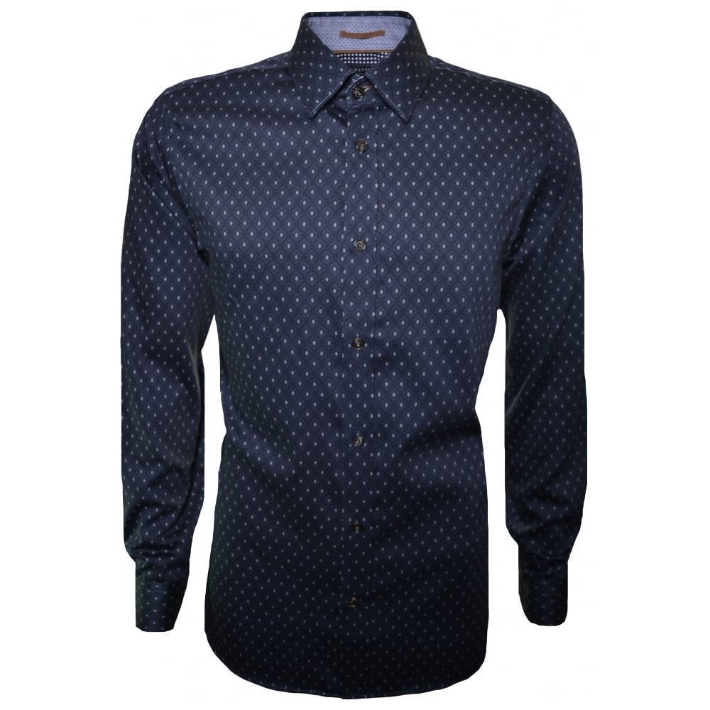Men's Navy Blue Hartbop Long Sleeve Shirt