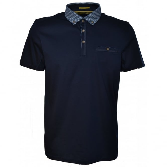 Ted Baker Mens Navy Blue ItShot Polo Shirt