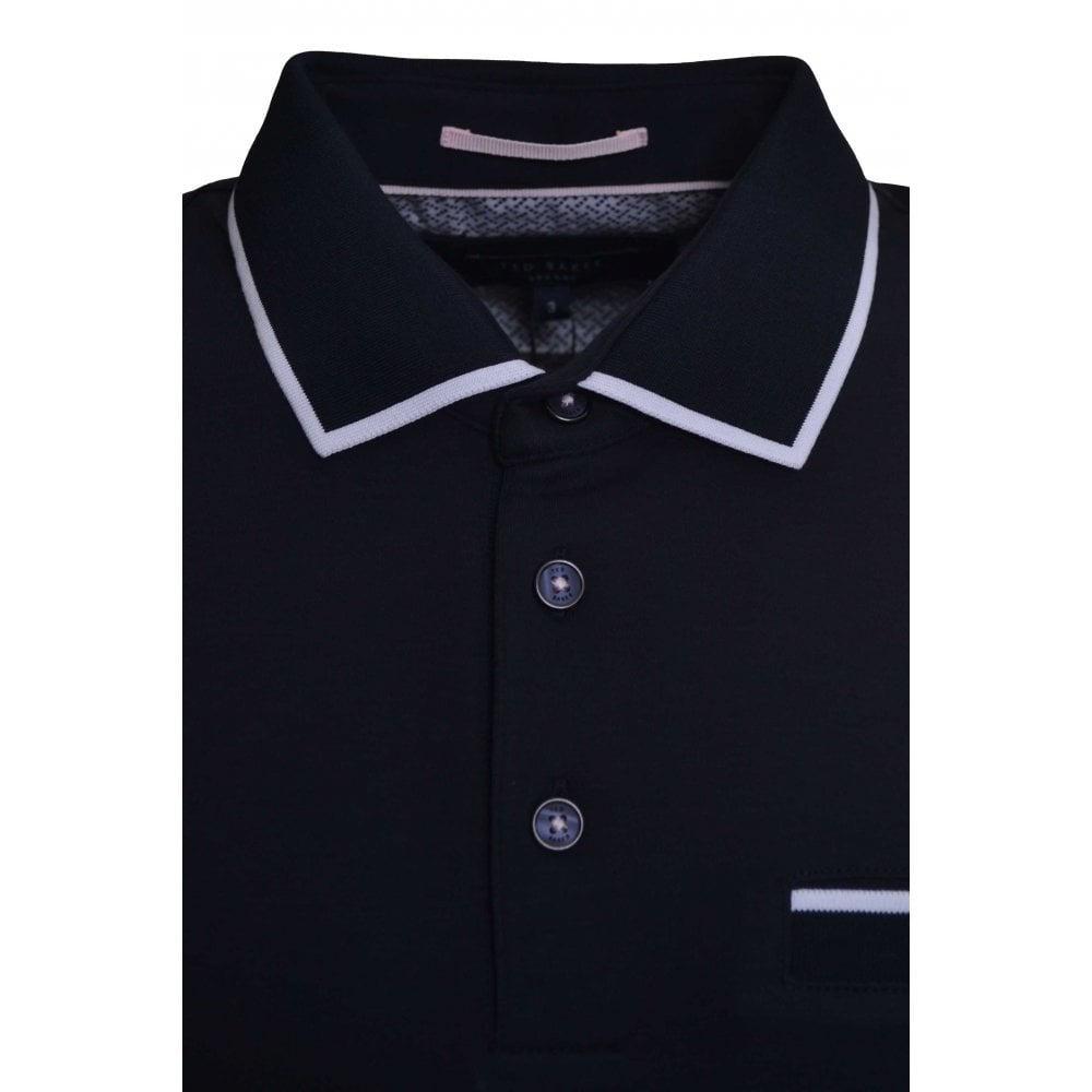 e0e2326dd Ted Baker Men  039 s Navy Blue Jelly Polo Shirt