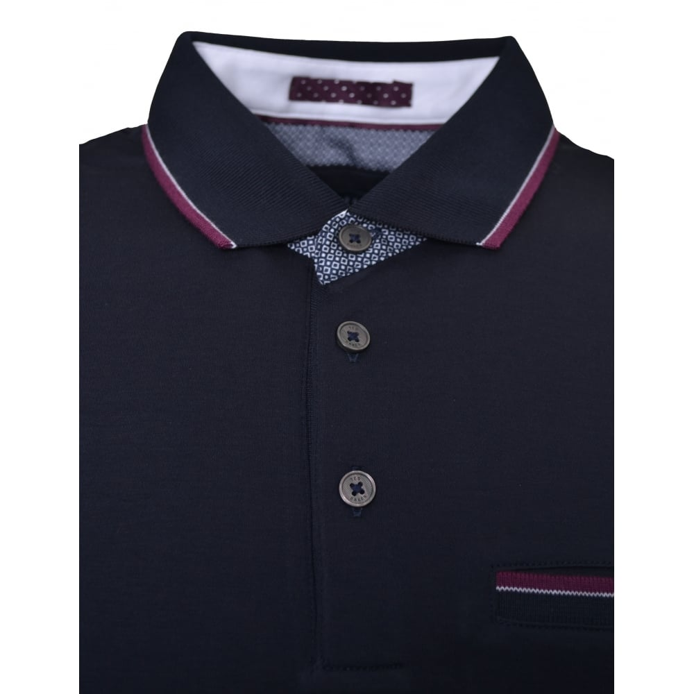 58a95a75645c0 ted baker men s navy blue kiwi polo shirt