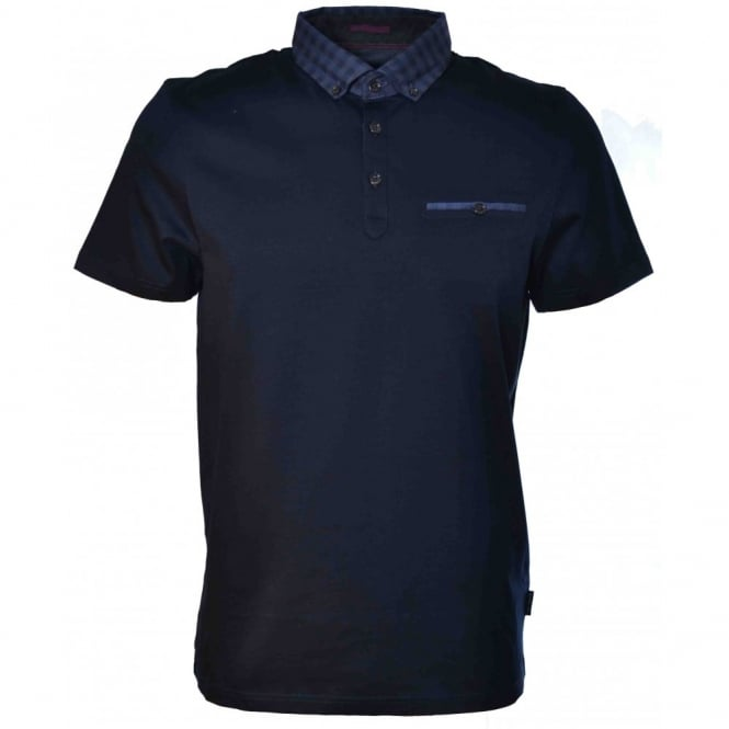 Ted Baker Mens Navy Blue Vinchey Polo Shirt