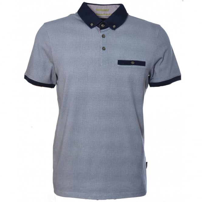 Ted Baker Mens Navy Blue Wooksee Polo Shirt