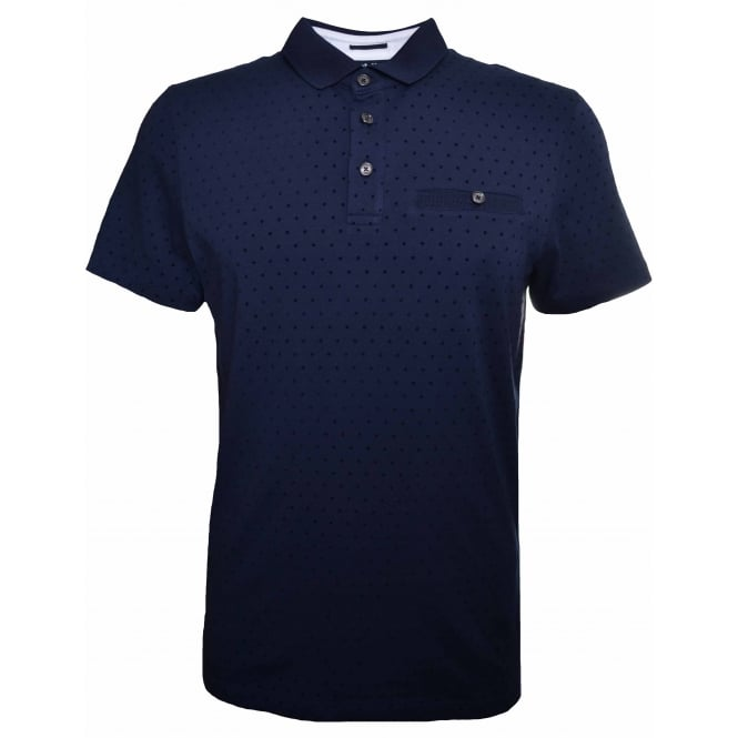 Ted Baker Men's Platts Navy Blue Polo Shirt