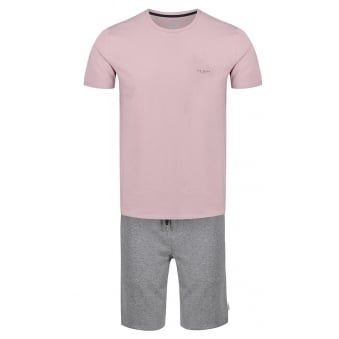 Ted Baker Men's Pleco Pink T-Shirt And Shorts Set