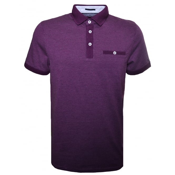Ted Baker Men's Purple Otto Polo Shirt