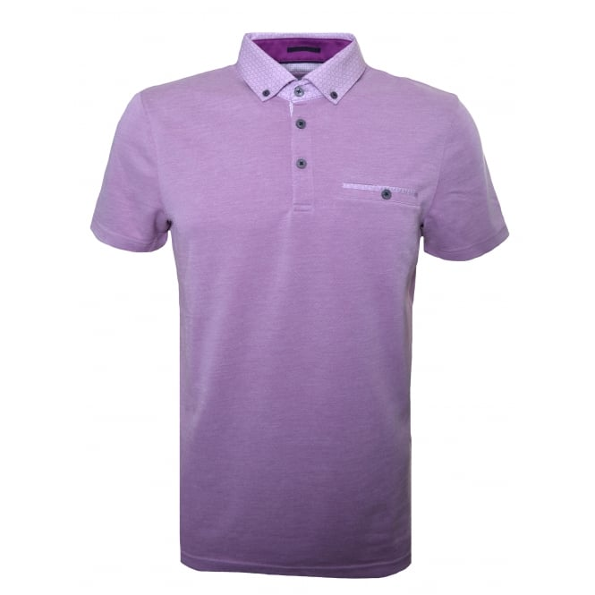 Ted Baker Mens Purple Super Polo Shirt