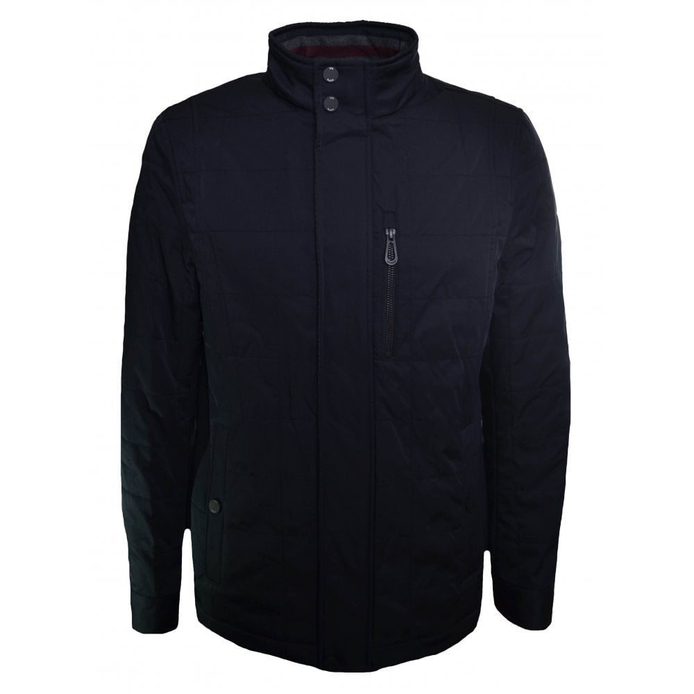 a3410e1641f1e Ted Baker Men  039 s Reller Navy Blue Quilted Jacket