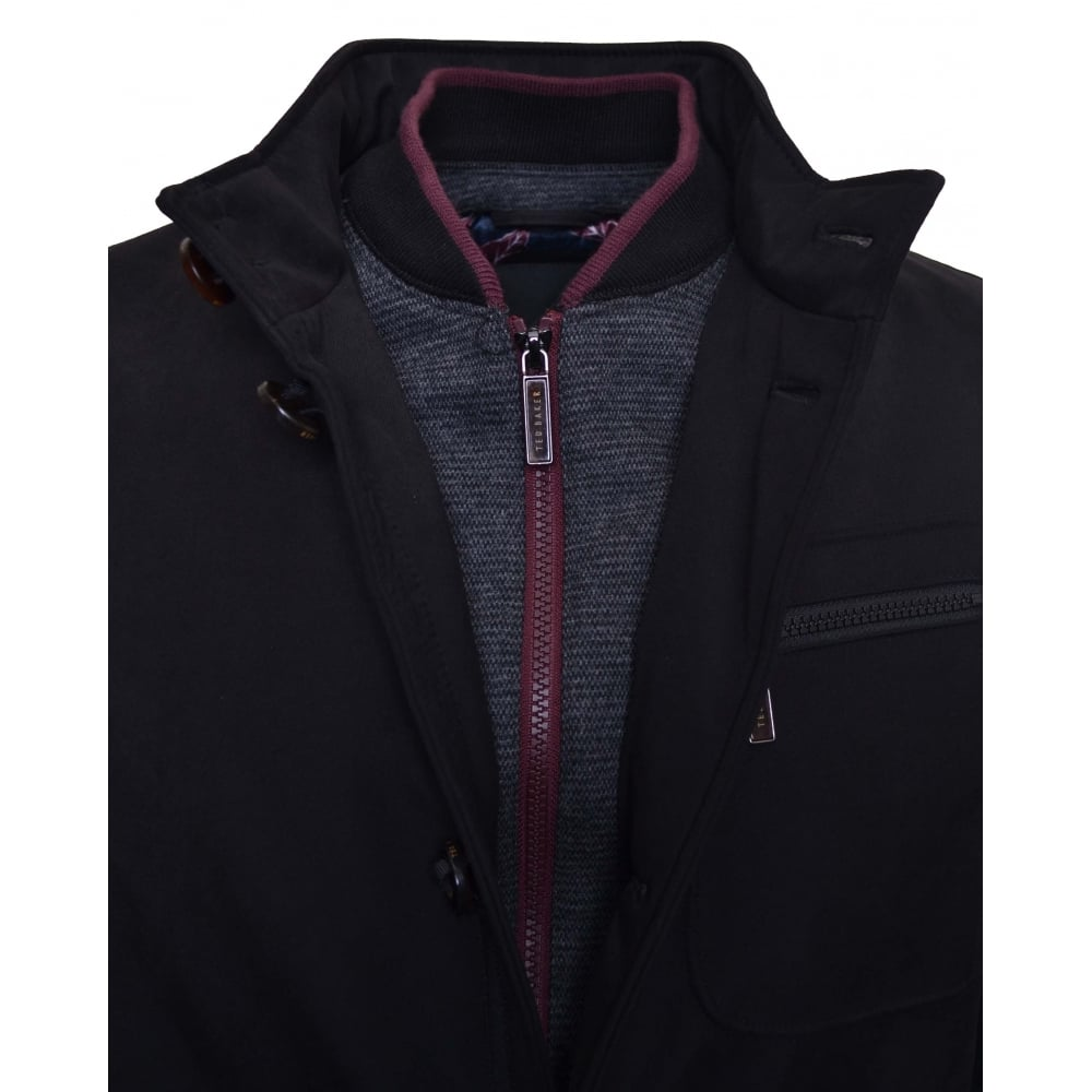 a76d5d5cc Ted Baker Men  039 s Romeo Black Funnel Neck Jacket