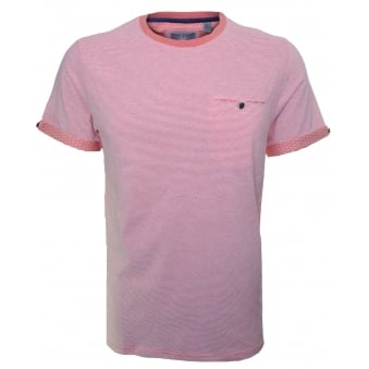 Ted Baker Men's Striped Tempoe Coral T-Shirt