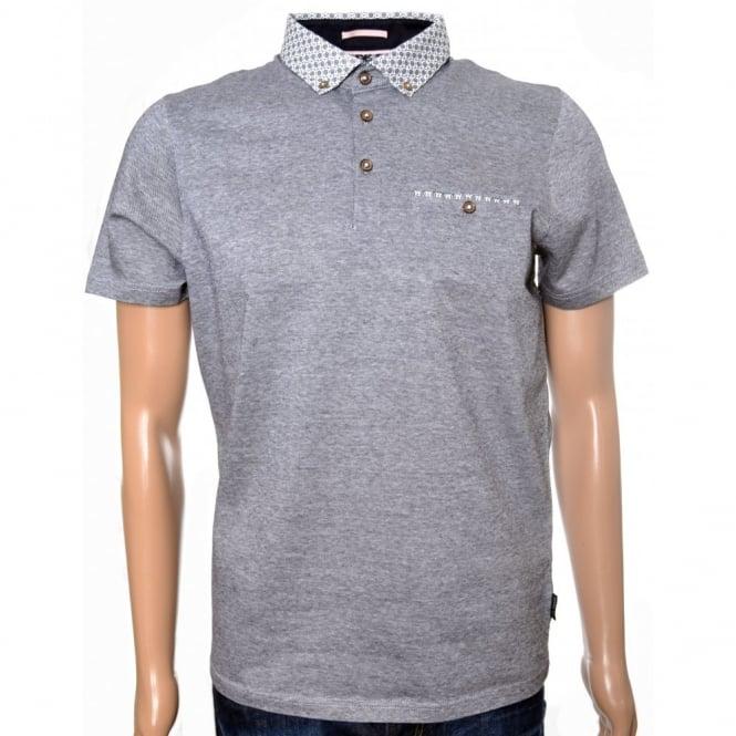 7f59728747824 Men  039 s Ted Baker Navy Blue Delrey Woven Collar Polo Shirt