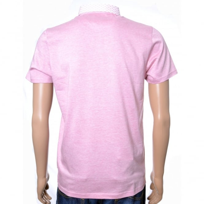 bc228f81394c2 men s ted baker pink delrey woven collar polo shirt