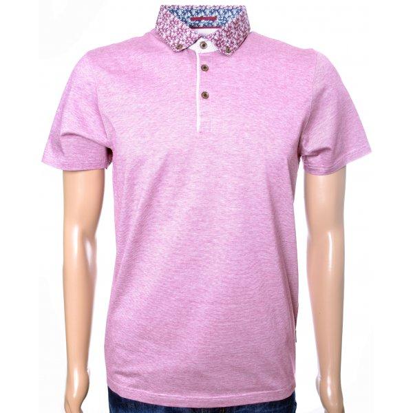 Men 39 S Ted Baker Veniz Pink Woven Collar Polo Shirt