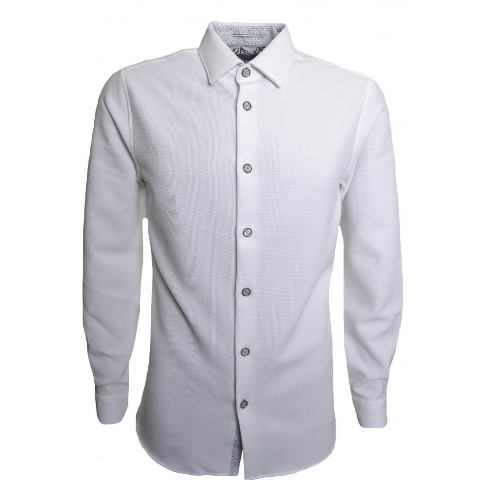 23b9182a82d Ted Baker Men  039 s White Loretax Long Sleeved Shirt
