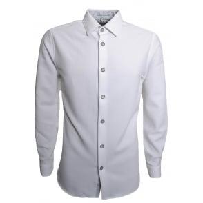 0bbc8762a87d Ted Baker Men s White Loretax Long Sleeved Shirt