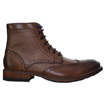 Ted Baker Tan Sealls Brogue Ankle Boots