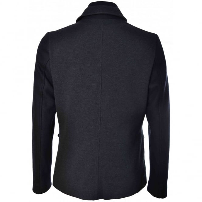 b469ab49097904 Ted Baker Mens Navy Blue Twain Two In One Jersey Jacket