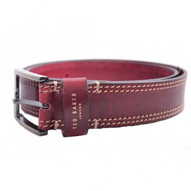 a29efa68817a05 Ted Baker Mens Red Crikitt Stitch Belt